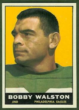 Bobby Walston 1961 Topps football card