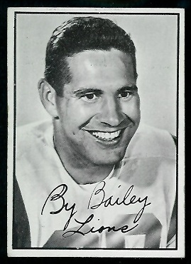 By Bailey 1961 Topps CFL football card