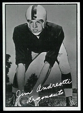 Jim Andreotti 1961 Topps CFL football card