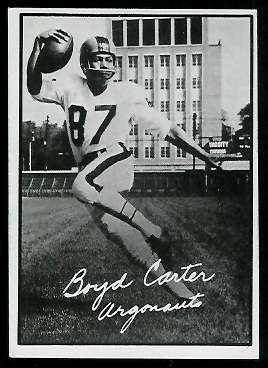 Boyd Carter 1961 Topps CFL football card