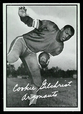 Cookie Gilchrist 1961 Topps CFL football card