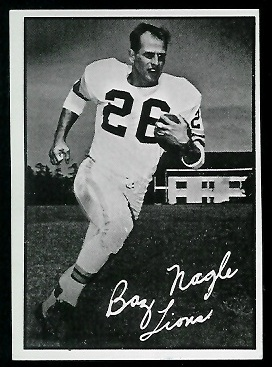 Baz Nagle 1961 Topps CFL football card