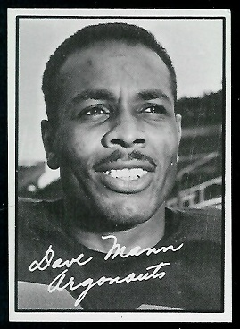 Dave Mann 1961 Topps CFL football card