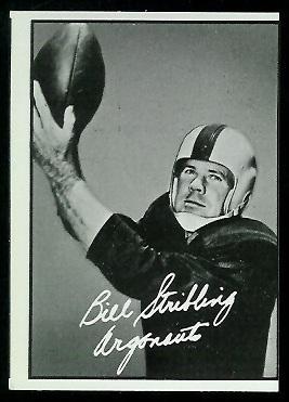 Bill Stribling 1961 Topps CFL football card