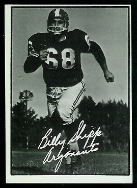 Billy Shipp 1961 Topps CFL football card
