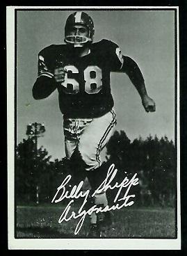 Billy Shipp 1961 Topps CFL football card