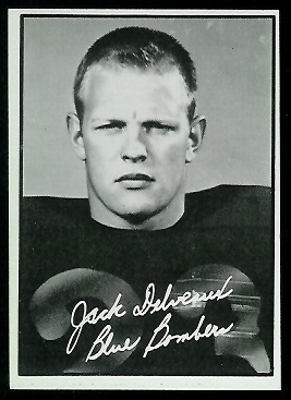 Jack Delveaux 1961 Topps CFL football card