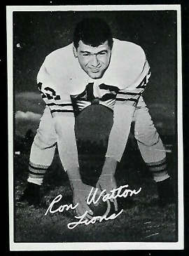 Ron Watton 1961 Topps CFL football card