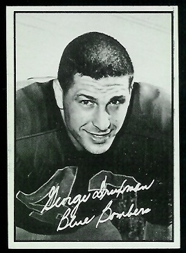 George Druxman 1961 Topps CFL football card