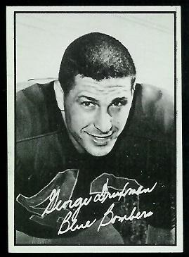 George Druxman 1961 Topps CFL football card