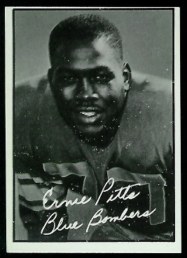 Ernie Pitts 1961 Topps CFL football card