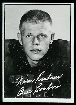 Norm Rauhaus 1961 Topps CFL football card