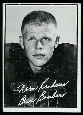 Norm Rauhaus 1961 Topps CFL football card
