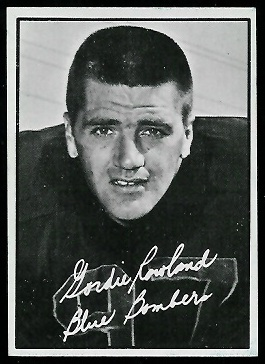 Gord Rowland 1961 Topps CFL football card
