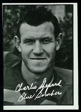 Charlie Shepard 1961 Topps CFL football card