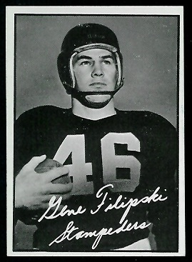 Gene Filipski 1961 Topps CFL football card