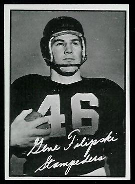Gene Filipski 1961 Topps CFL football card