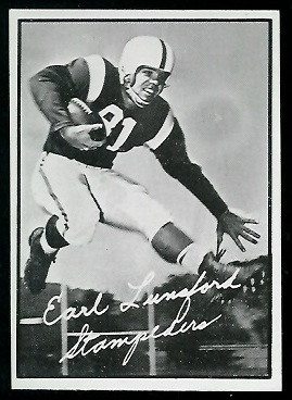 Earl Lunsford 1961 Topps CFL football card