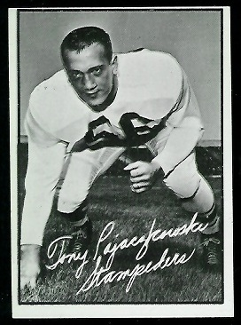 Tony Pajaczkowski 1961 Topps CFL football card