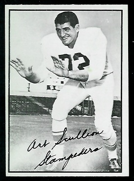 Art Scullion 1961 Topps CFL football card