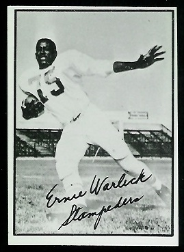 Ernie Warlick 1961 Topps CFL football card