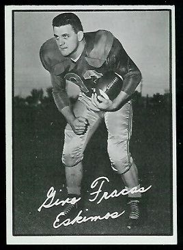 Gino Fracas 1961 Topps CFL football card