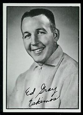 Ed Gray 1961 Topps CFL football card