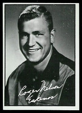 Roger Nelson 1961 Topps CFL football card