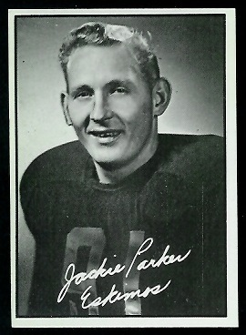 Jackie Parker 1961 Topps CFL football card