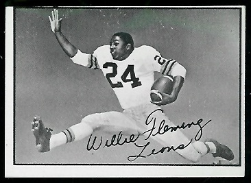 Willie Fleming 1961 Topps CFL football card