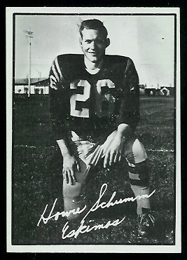 Howie Schumm 1961 Topps CFL football card