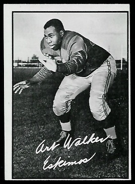 Art Walker 1961 Topps CFL football card