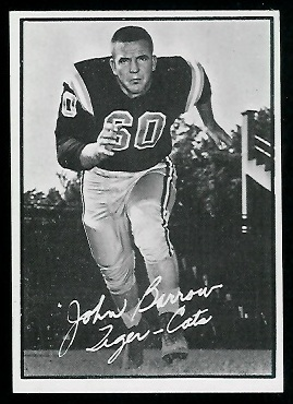 John Barrow 1961 Topps CFL football card