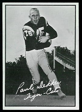 Paul Dekker 1961 Topps CFL football card