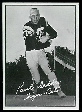Paul Dekker 1961 Topps CFL football card