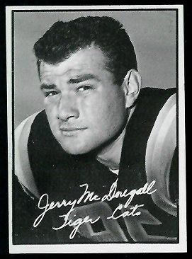 Gerry McDougall 1961 Topps CFL football card