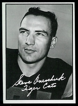 Steve Oneschuk 1961 Topps CFL football card