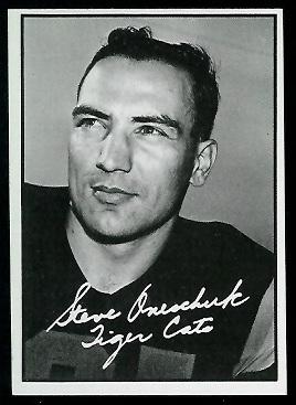 Steve Oneschuk 1961 Topps CFL football card