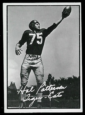 Hal Patterson 1961 Topps CFL football card