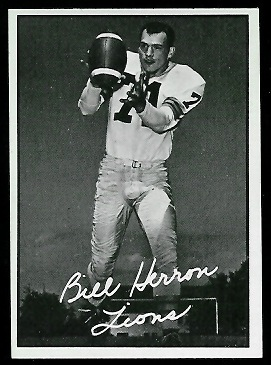 Bill Herron 1961 Topps CFL football card