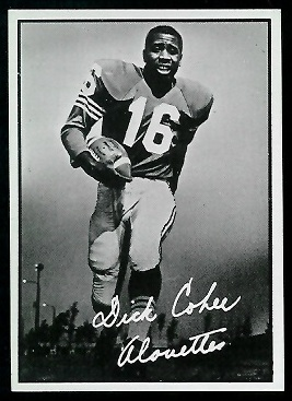 Dick Cohee 1961 Topps CFL football card