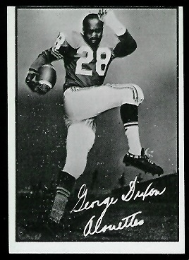 George Dixon 1961 Topps CFL football card