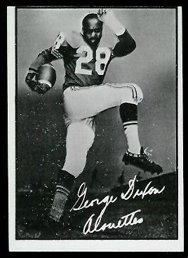 George Dixon 1961 Topps CFL football card