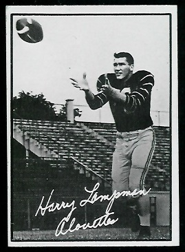 Harry Lampman 1961 Topps CFL football card