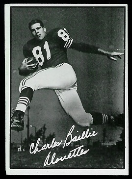 Charles Baillie 1961 Topps CFL football card