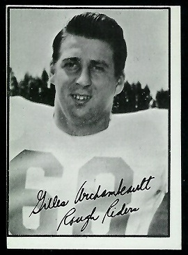 Gilles Archambault 1961 Topps CFL football card