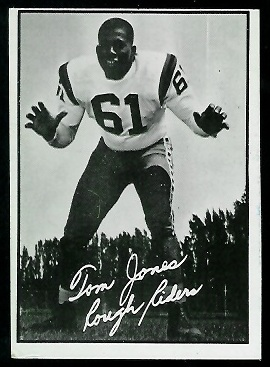 Tom Jones 1961 Topps CFL football card