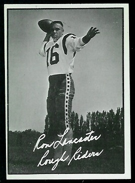 Ron Lancaster 1961 Topps CFL football card