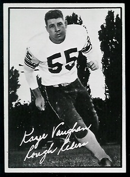 Kaye Vaughan 1961 Topps CFL football card