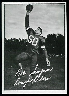Bob Simpson 1961 Topps CFL football card